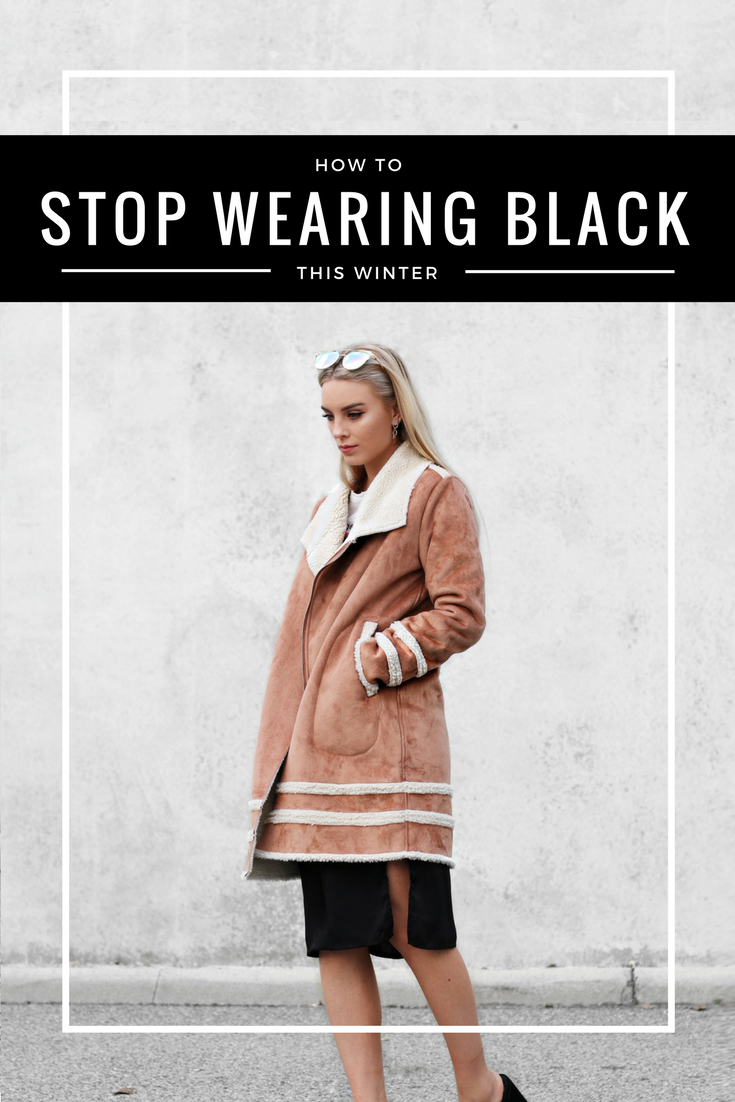 How To Stop Wearing Black This Winter | Izzy Wears Blog