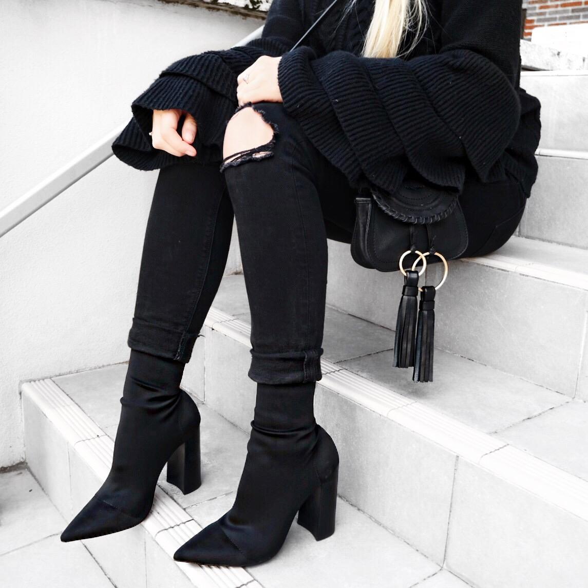 Tony Bianco Diddy Sock Boots | Izzy Wears Blog