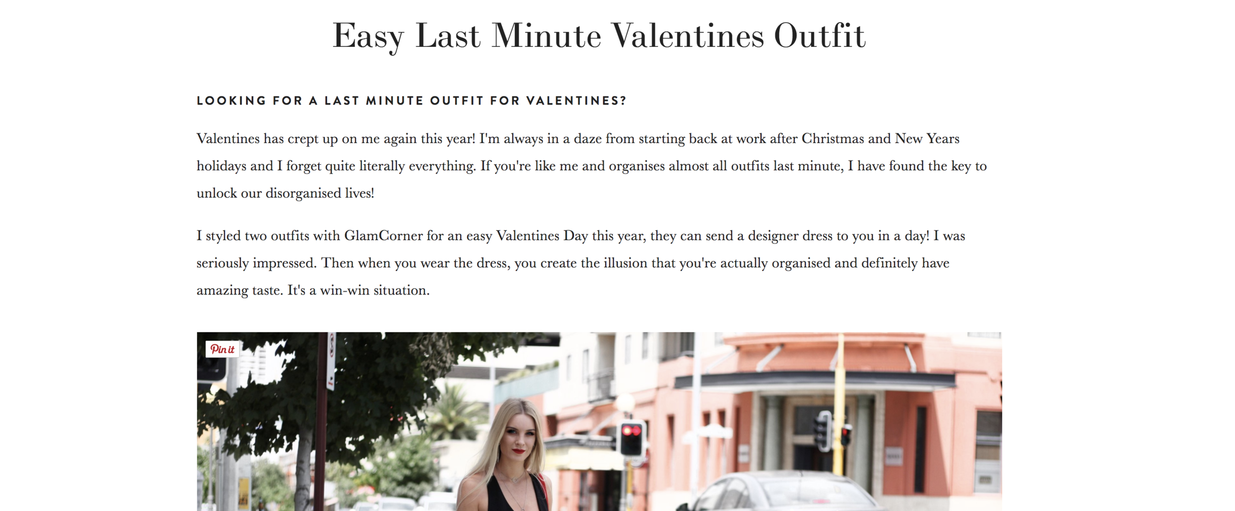 Quick Valentines Outfit Online
