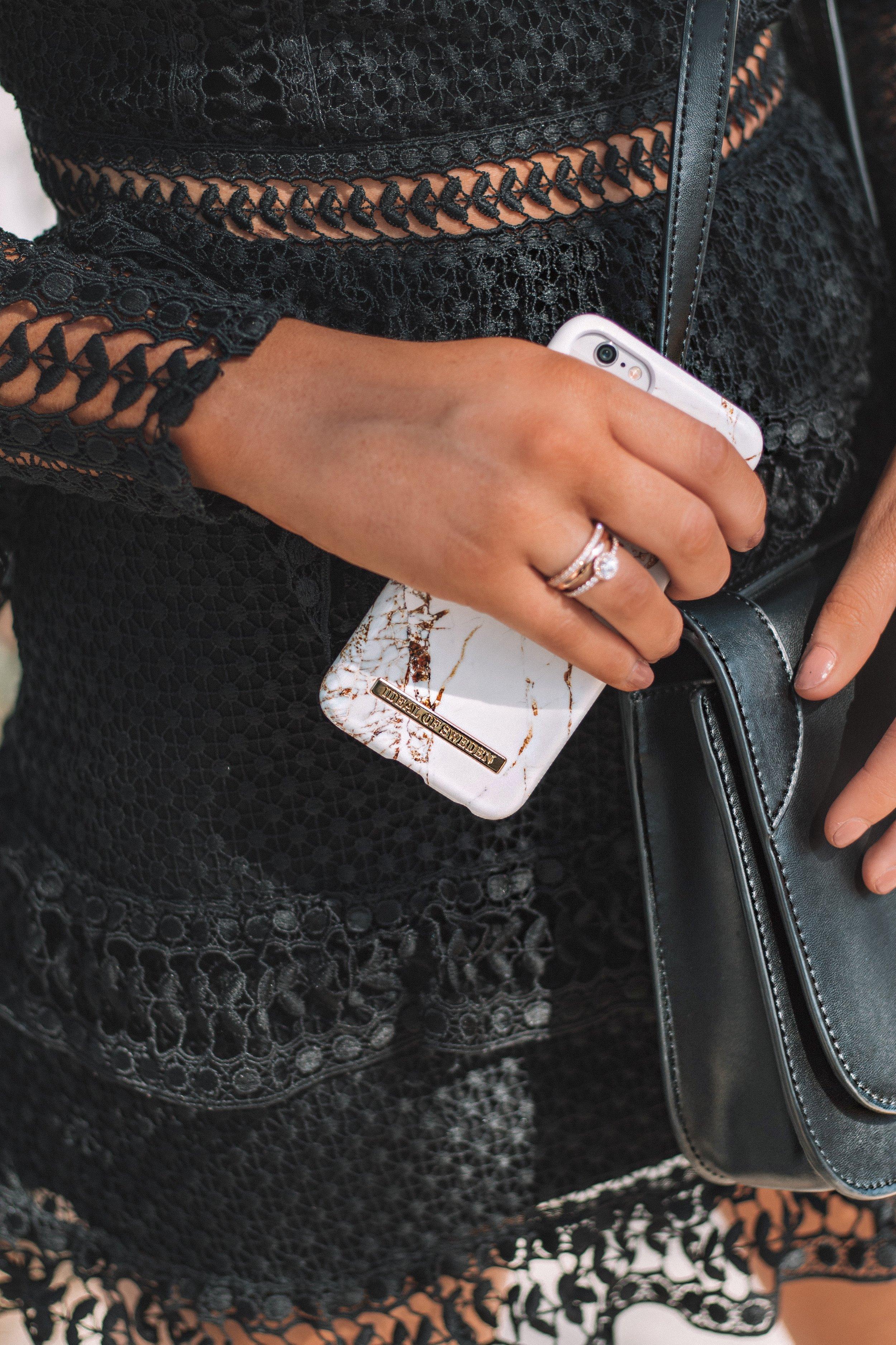 iDeal Sweden Marble Phone Case - Izzy Wears Blog