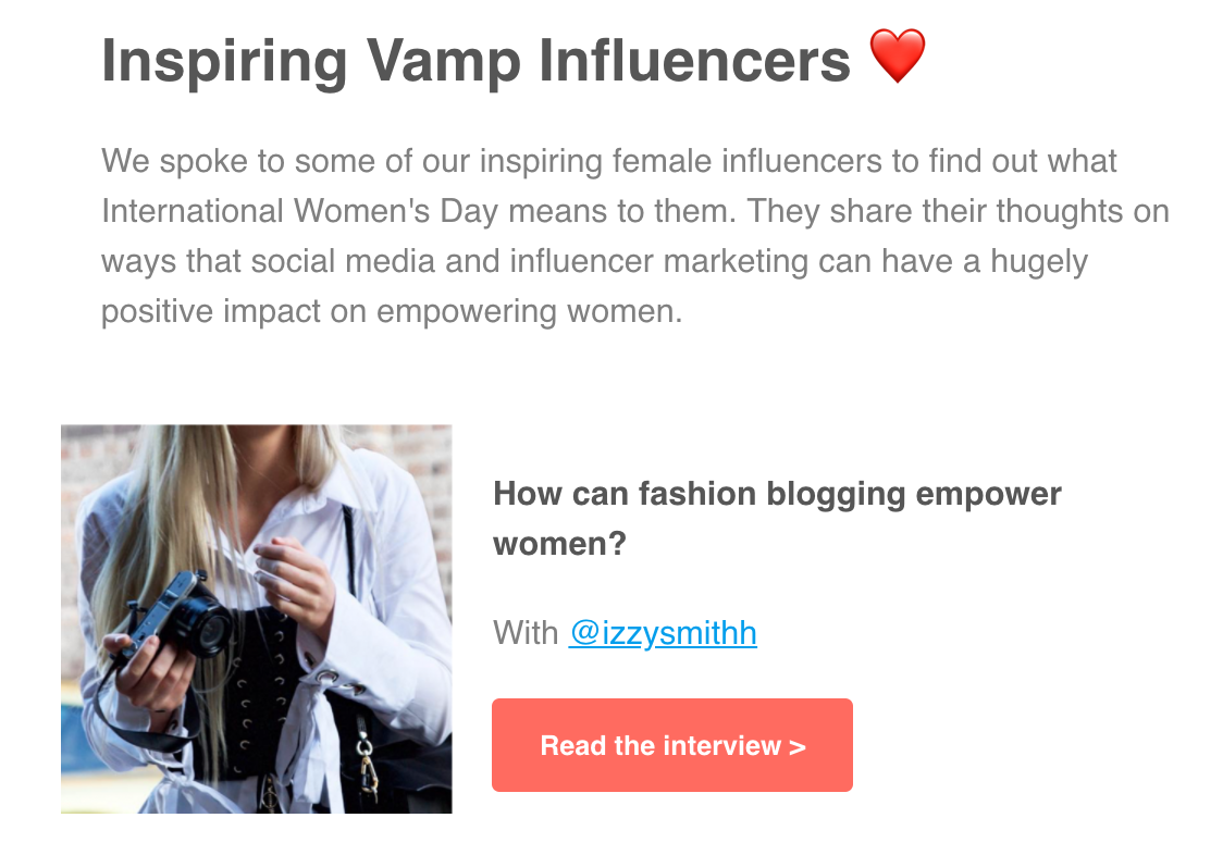 Vamp EDM IWD Interview Izzy Smith