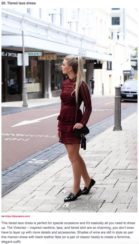 fashioncorner.net izzy wears blog self portrait dress