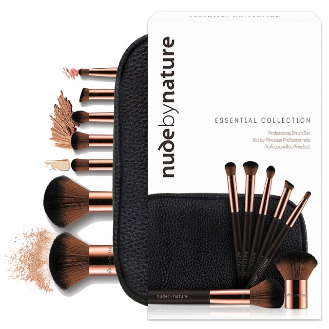 NUDE BY NATURE - Essential Collection Brush Set - Was 39.95, now $19.97.