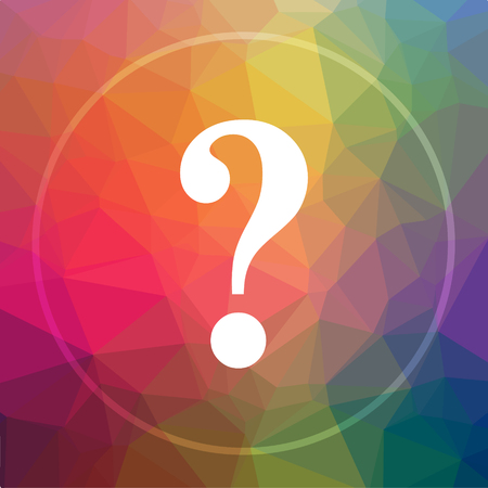 78784923 - question mark icon. question mark website button on low poly background.
