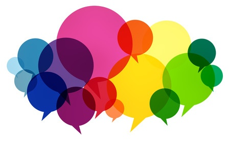 42746608 - speech bubbles colorful communication thoughts talking concept