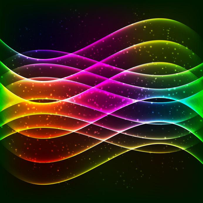 Neon vector equalizer wave
