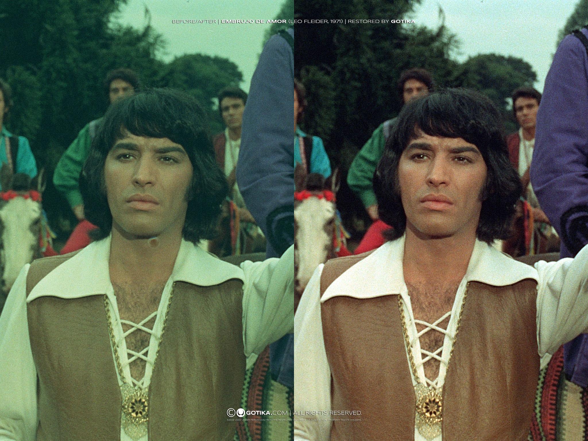 Before/After |Embrujo De Amor (Leo Fleider, 1971) | Restored by GOTIKA