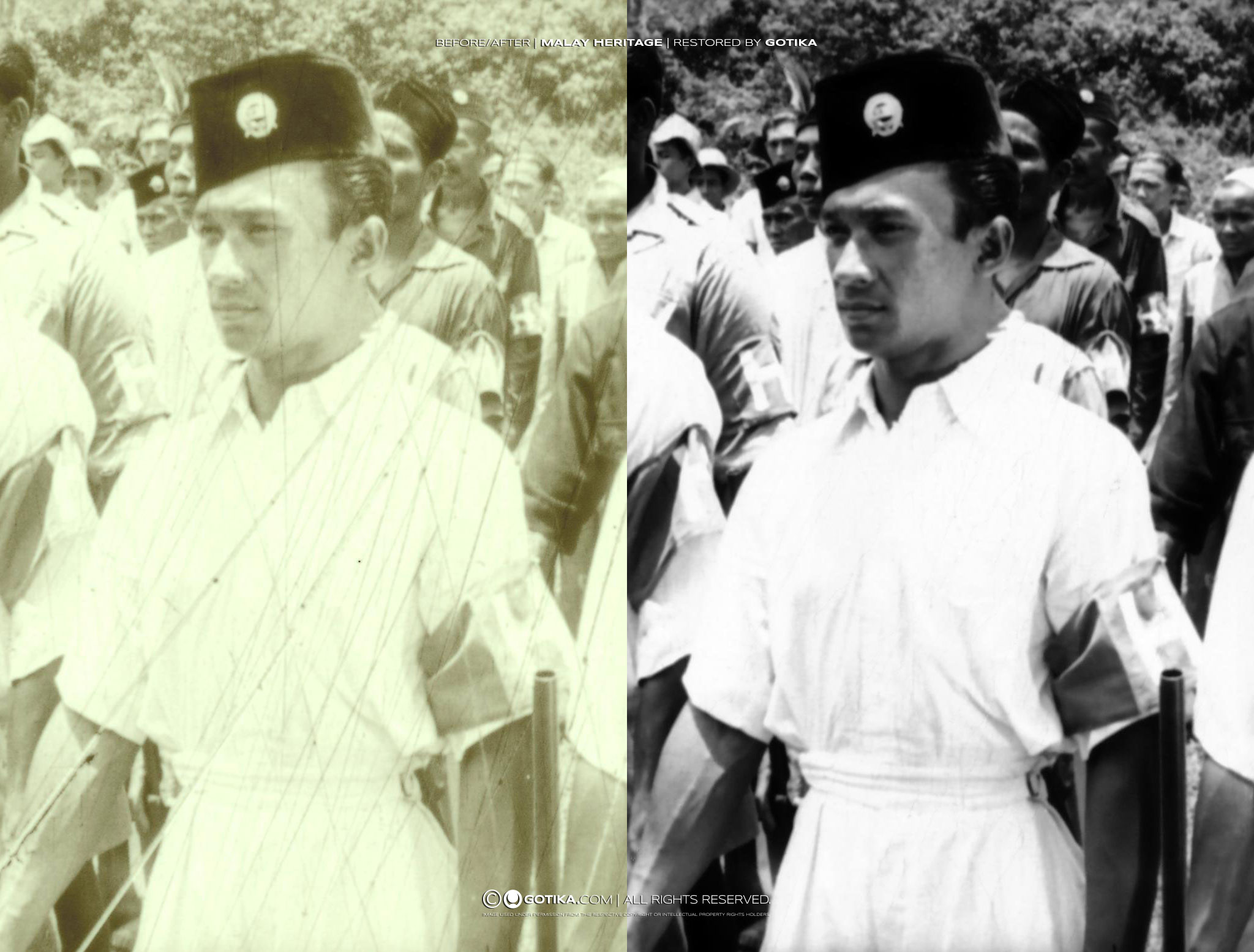 Before/After   Malay Heritage   Restored by GOTIKA