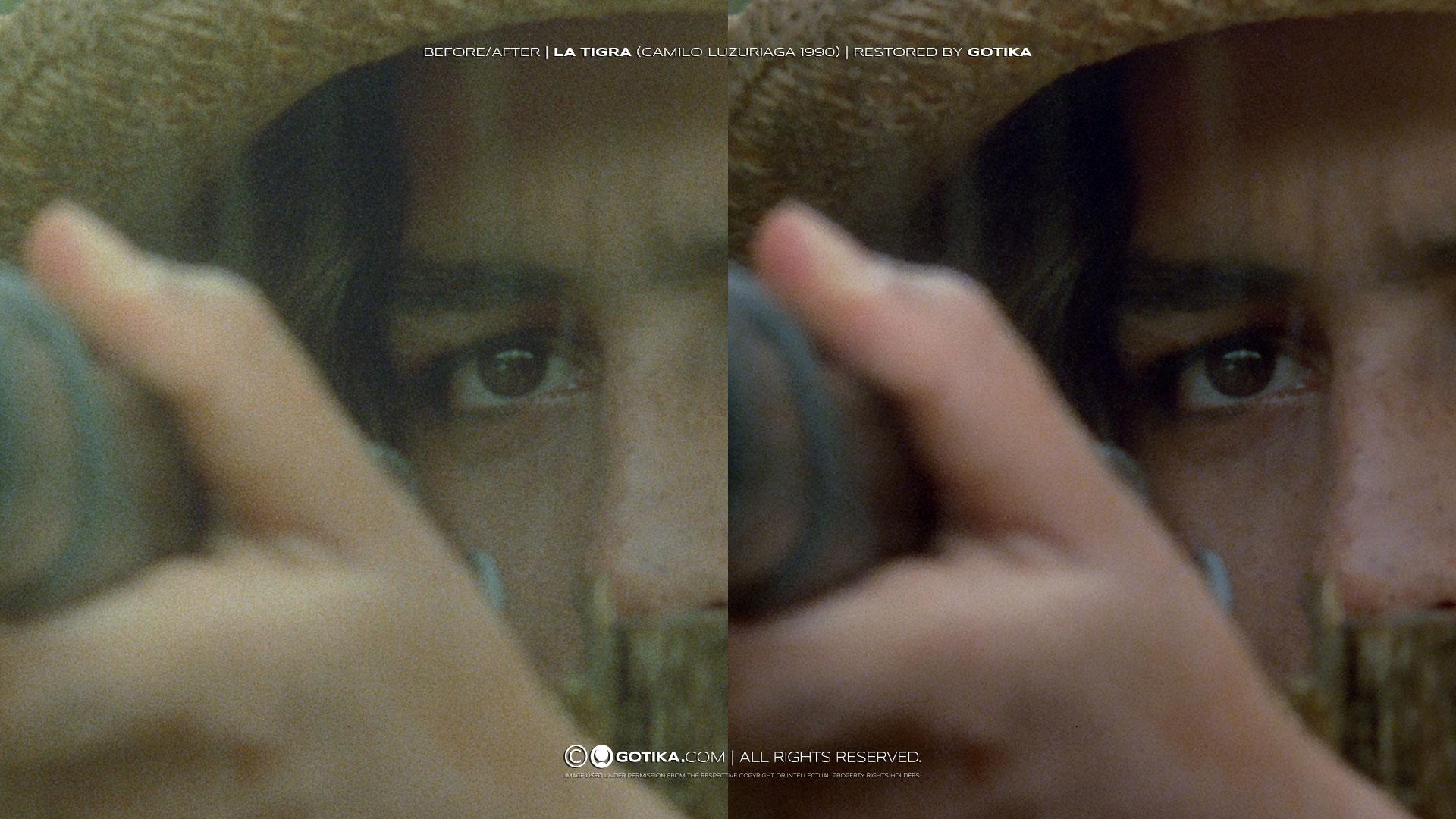 Before/After   La Tigra (Camilo Luzuriaga, 1990)   Restored by GOTIKA