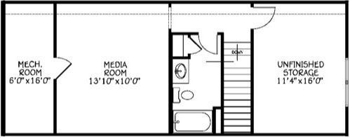 Media Room & Full Bath (Adds 365 Sq/Ft)