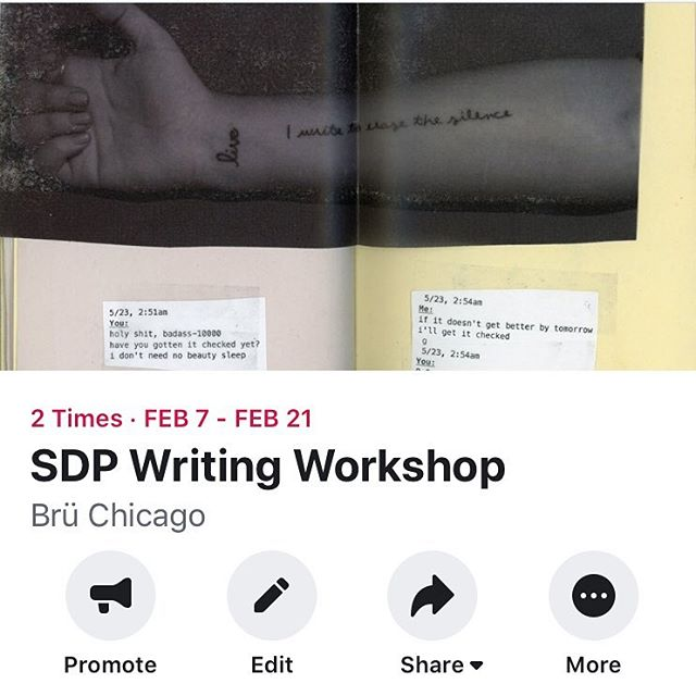 come join us and write dope poems . . . . . . . . #seconddraftpress #sdp #artistcollective #writingworkshop #writer #writing #poetry #poem #chicagopoet #queerartist #queerpoet #chicagopoetry #chicago