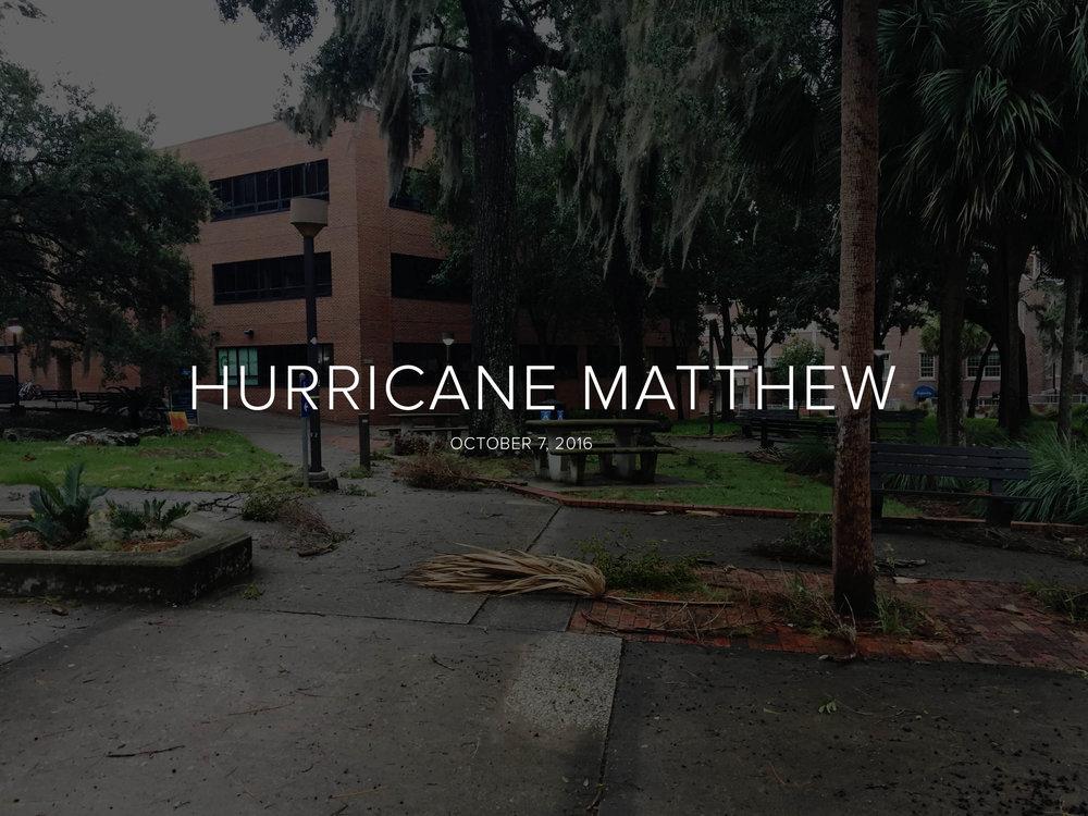 HURRICANE MATTHEW — GRACE KING | MMJ