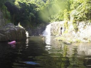 Swimming at Crystal Cascades