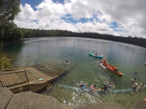 More swimming.. In Crater Lakes National Park in the Tablelands