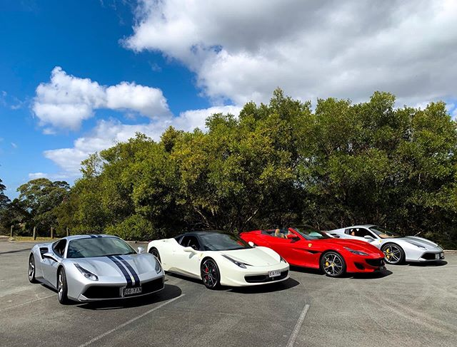 Had the pleasure of taking these four beautiful cars that belong to @ferraribrisbaneofficial to Noosa for the day.