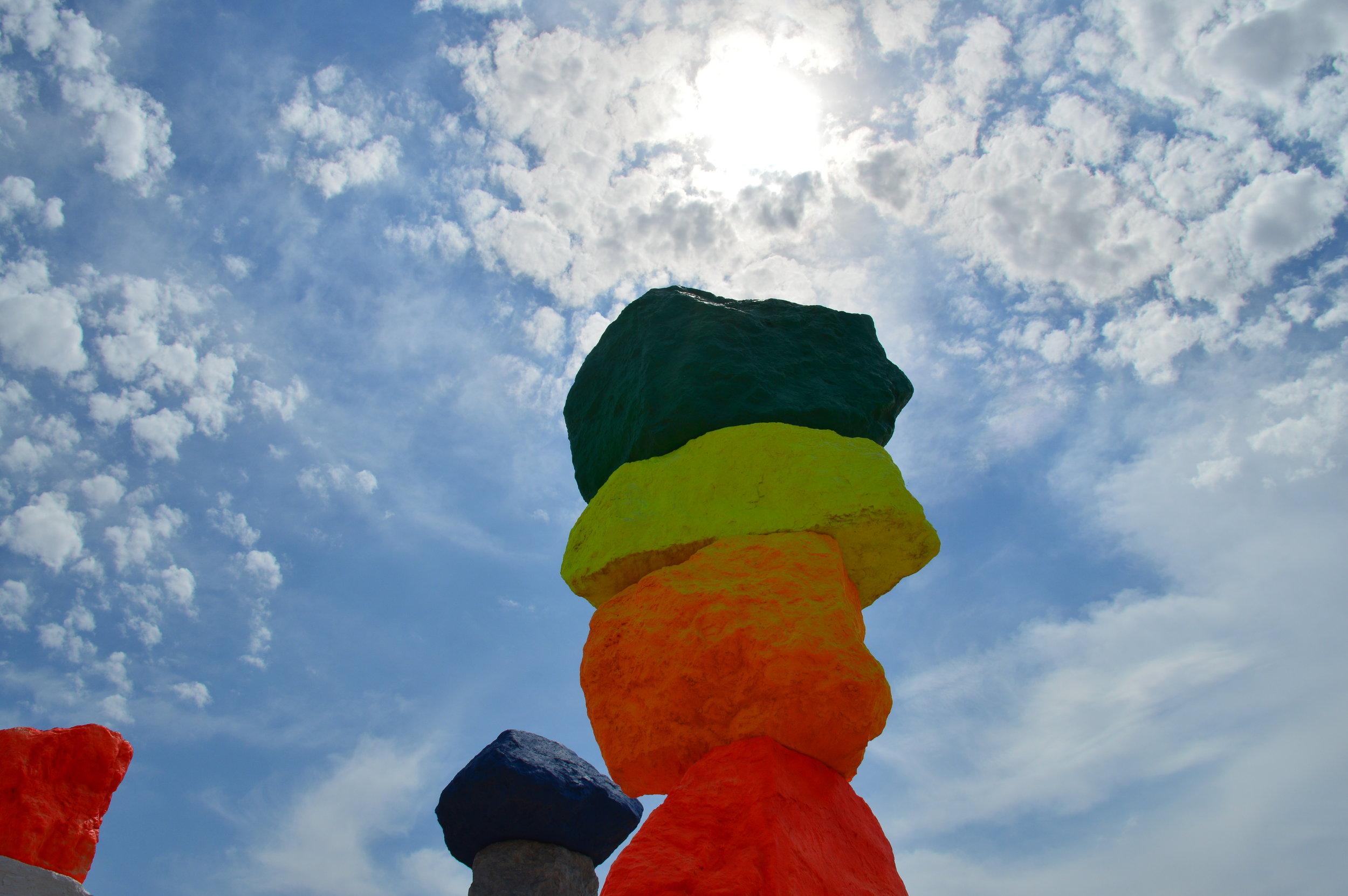 VEGASMAMAS'™ ode to NANCY HOLT'S Land Art Installation  SUN TUNNELS in Lucin, TX
