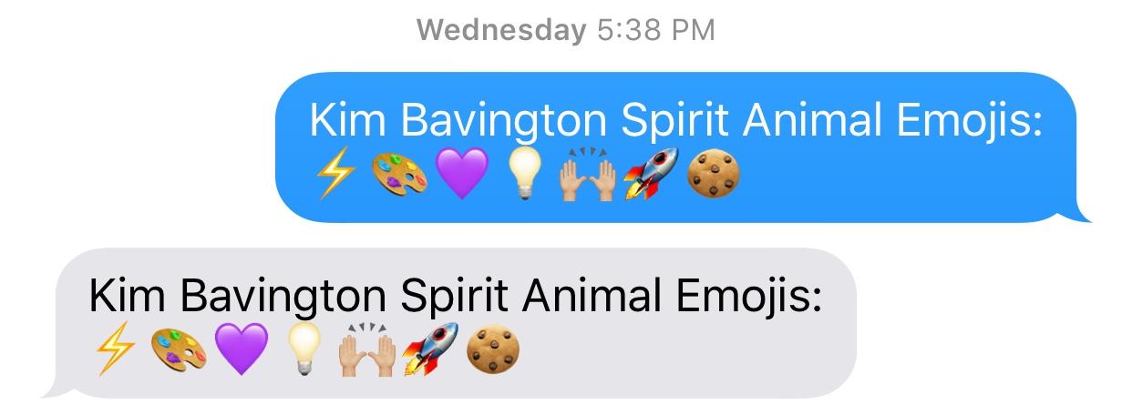 VEGASMAMA Kim Bavington spirit emojis