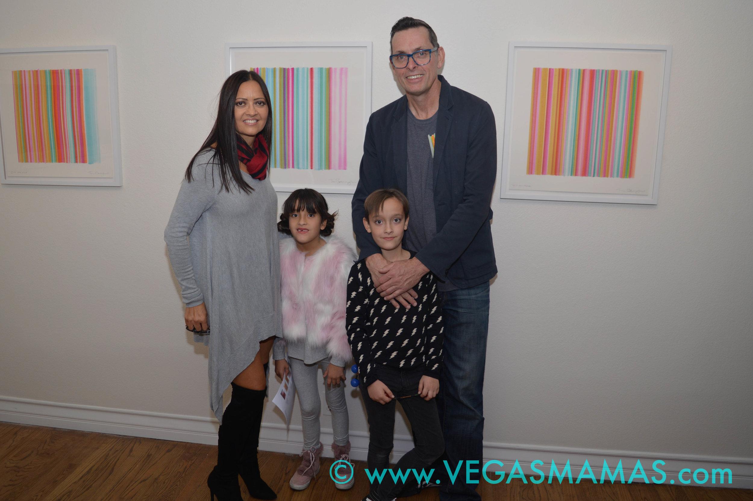 Lily & Jet Bavington with their parents Kim & Tim