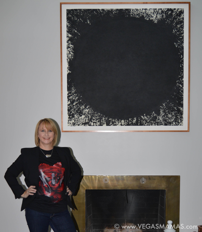 Michele fireside with Richard Serra