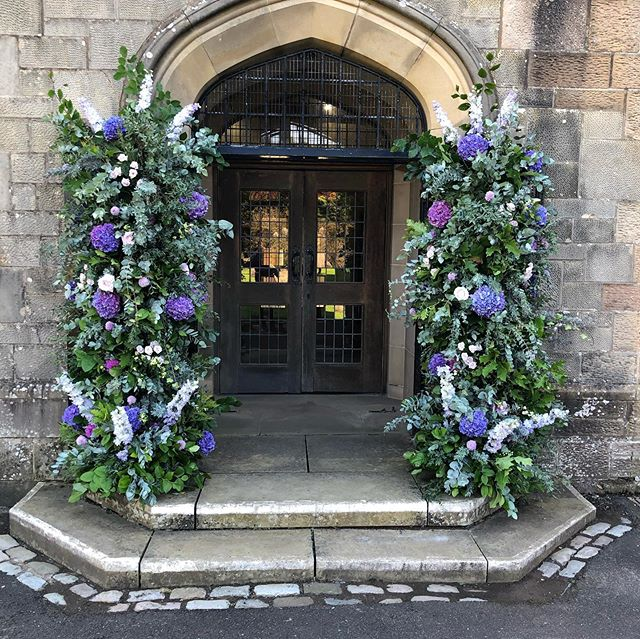 We loved being back at this beautiful church yesterday for Kate and Andrew's wedding on the most beautiful sunny day... the flower stands at the entrance were constructed with our new #nofloralfoam bespoke towers thank you to Nathan @floralfabrications ... the entire wedding was foam free which is quite an accomplishment for our small team, given the large scale...more pics and stories to follow...#nofloralfoam #flowerarches #floralarch #scottishflorist #luxurywedding #weddingflowers #wildroseflowerskilmacolm