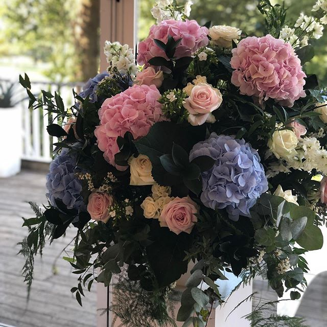 Pretty pink and blue #nofloralfoam arrangement from last weekend's wedding at a very sunny @mar_hall_hotel ... we are very excited that this weekend we're off overseas ..... but not by plane ... by ferry ⛴ to the beautiful Isle of Mull ... for a wedding at @glengorm ... for a gorgeous couple Sally & Scott @tobermoryfishco ... the shop will therefore be closed this Friday 27th & Saturday 28th... open today & tomorrow for any orders!! #nofloralfoam #mullwedding #goingonaroadtrip #isleofmull #scottishwedding #wildroseflowerskilmacolm