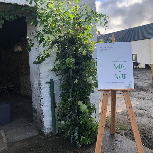 Our wild foliage entrance to the byre from Saturday's wedding on the beautiful Isle of Mull ... we used our bespoke #nofloralfoam stand by @floralfabrications and picked foliage from around the estate @glengorm ... we also added a few leftovers from the moongate!! #nofloralfoam #floralarch #byrewedding #barnwedding #isleofmullwedding #isleofmull #glengormcastle #scottishweddings #scottishflorist #wildroseflowerskilmacolm