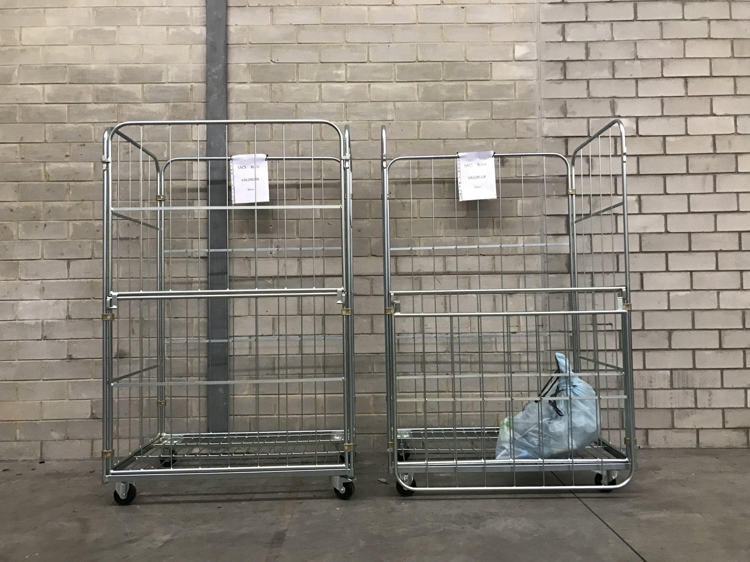 chariot valorlux nettoyage poubelle conteneur lavage service sortie rentrée poubelle