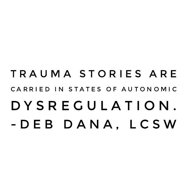 I discovered the work of Deb Dana this year and have become rather smitten with her research and ideas around #polyvagaltheory. At times I've felt like a bit of a weirdo talking about this nervous system dysregulation stuff until I started studying with Deb. Quotes like this give me hope that I'm on the right path of befriending my own nervous system and helping others do the same.  Here are some evidence-based benefits to having autonomic flexibility (aka an ally, not an enemy) and I've included sources in case you wish to look them up:  1 - Reduced inflammation (Andersson & Tracy, 2012)  2 - Improved emotional regulation (Surland et al, 2016)  3 - Resilience to stress (Pereira, Campos & Sousa, 2017)  4 - Increased capacity for friendship and connection (Kok & Fredrickson, 2010)  5 - Increased compassion (Stellar, Cohen, Oveis, Keltner, 2015)  These benefits merely scratch the surface of what can come from a resilient and flexible nervous system. I know this to be true first hand. Understanding #pvt and adopting it into my own life, and the lives of others, has opened up opportunities for growth and passion I never thought possible. And learning to experience safety in my body, to trust myself, is leading me down another path of self-discovery. I'll share more about that one day soon.  #movement4resilience #regulate4resilience #polyvagalinformed #polyvagaltheory #pvt #stressresilience #risktaker