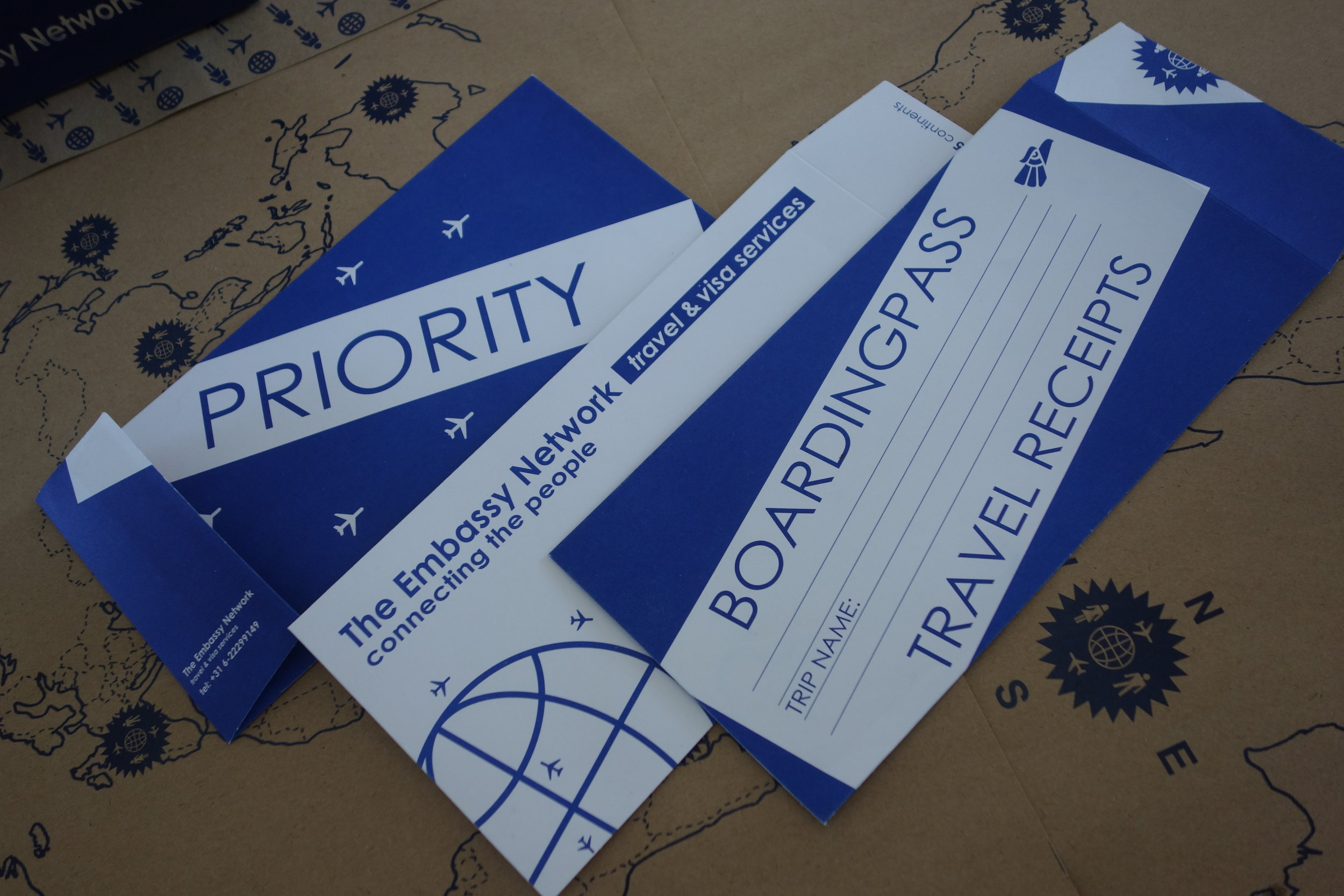 Travel receipts &boarding pass envelopes