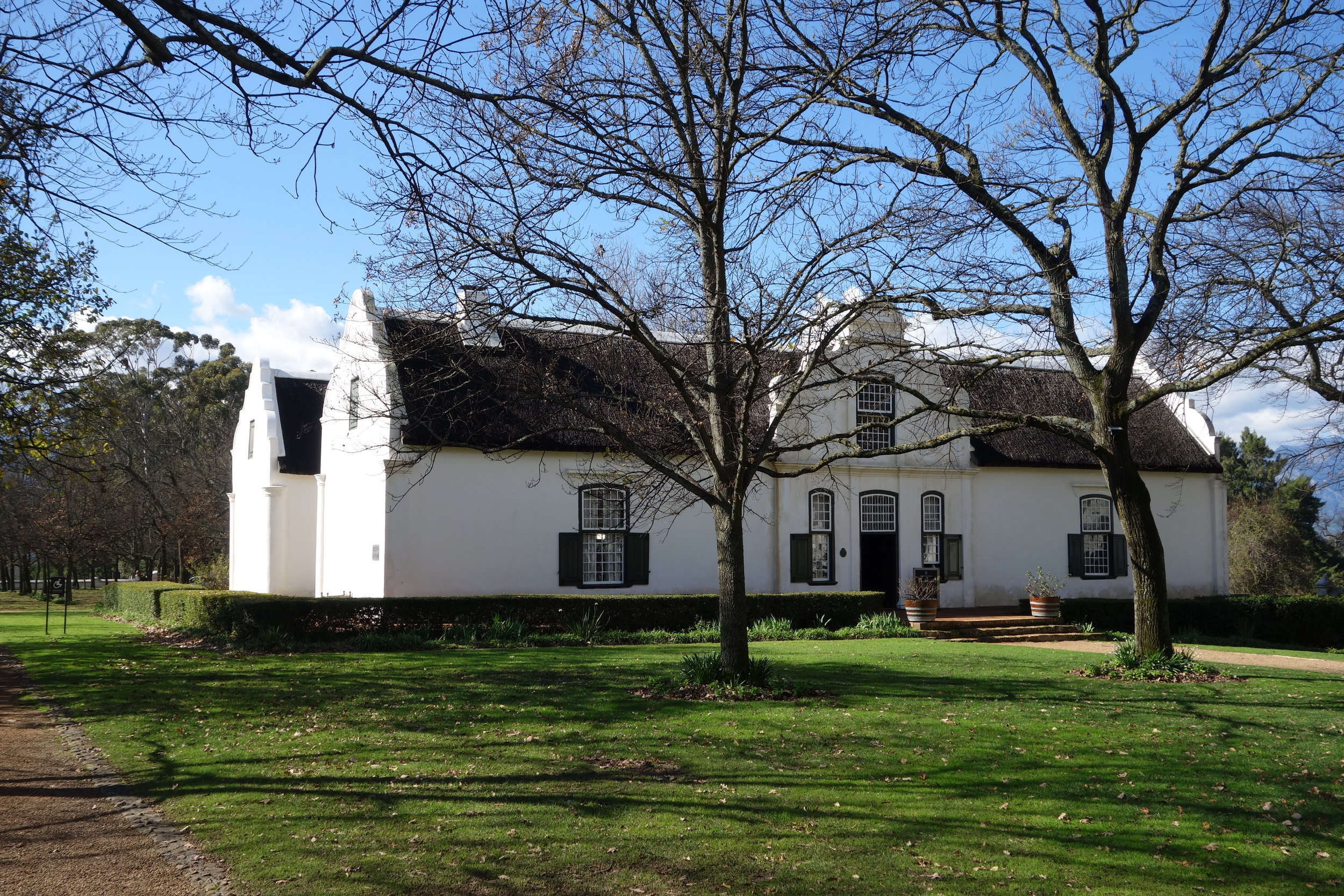 Free lunch at Boschendal Wine Estate. It's summer in Cape Town's Stellenbosch wine area.