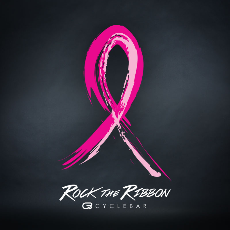 CYCLEBAR ROCK THE RIBBON BREAST CANCER AWARENESS CAMPAIGN