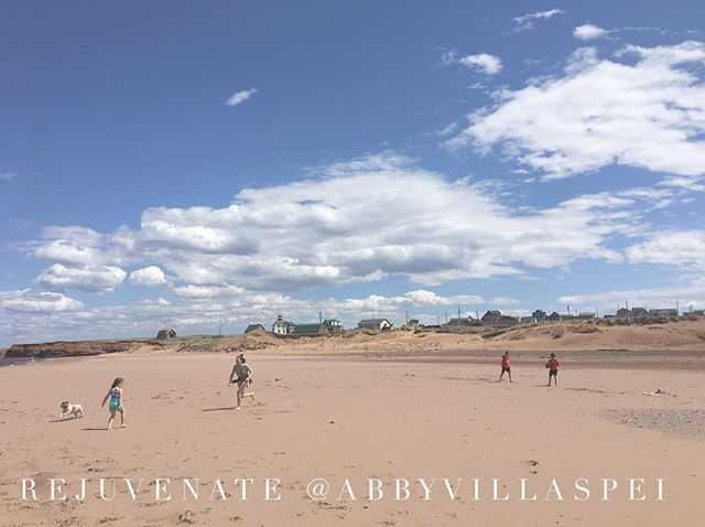 Cousins Shore is 30 seconds away from your forested Villa. Join us #princeedwardislandcanada #rest #canada #cottagelife #beachbum #kids #play