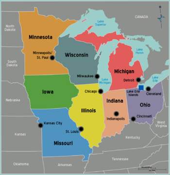 The Upper Midwest states