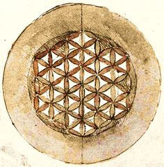 Leonardo da Vinci - Flower of Life      Codex Atlanticus, folio 309v (1478 - 1519) - Image source: Wikimedia Commons