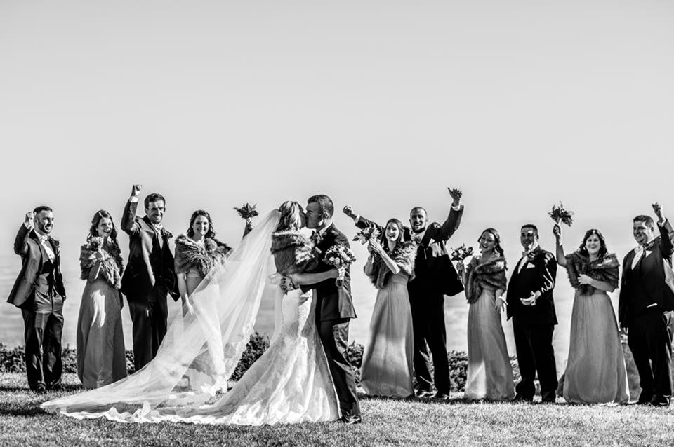 wedding ceremony at glassy mountain in greenville sc
