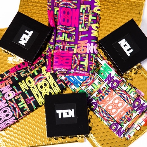 ZooZ Scarves and TEN packaging