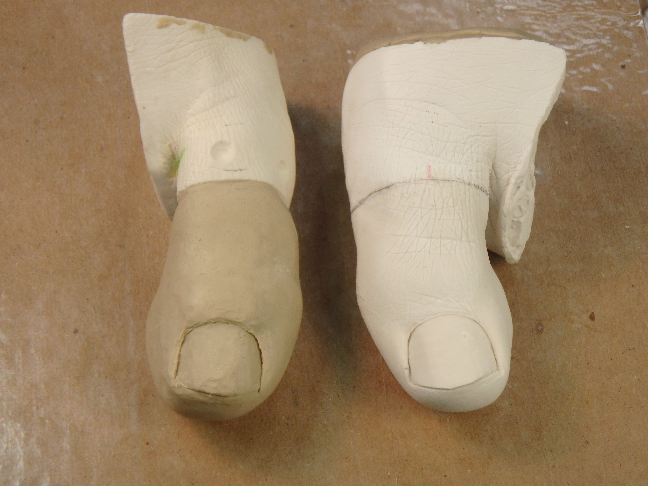 Big Toe Clay Modeling