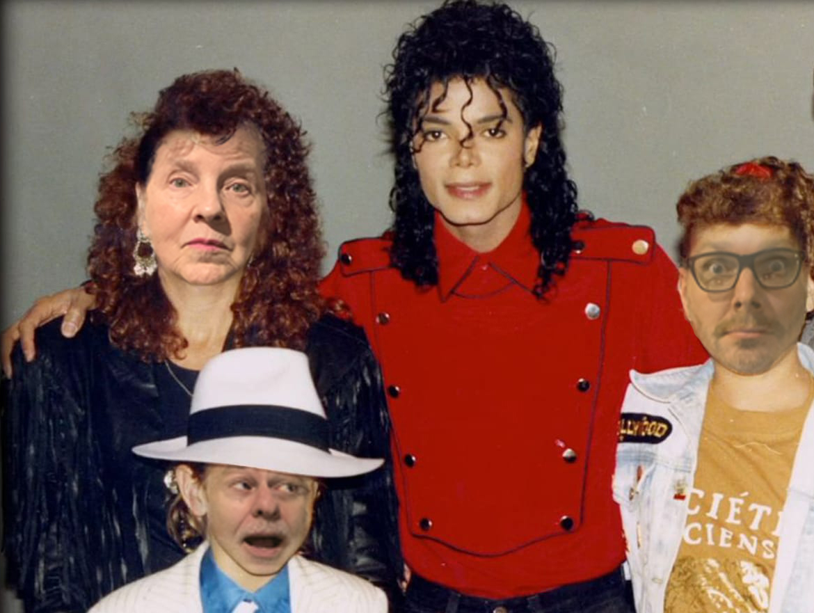 Guess Where Michael's Left Hand Is.