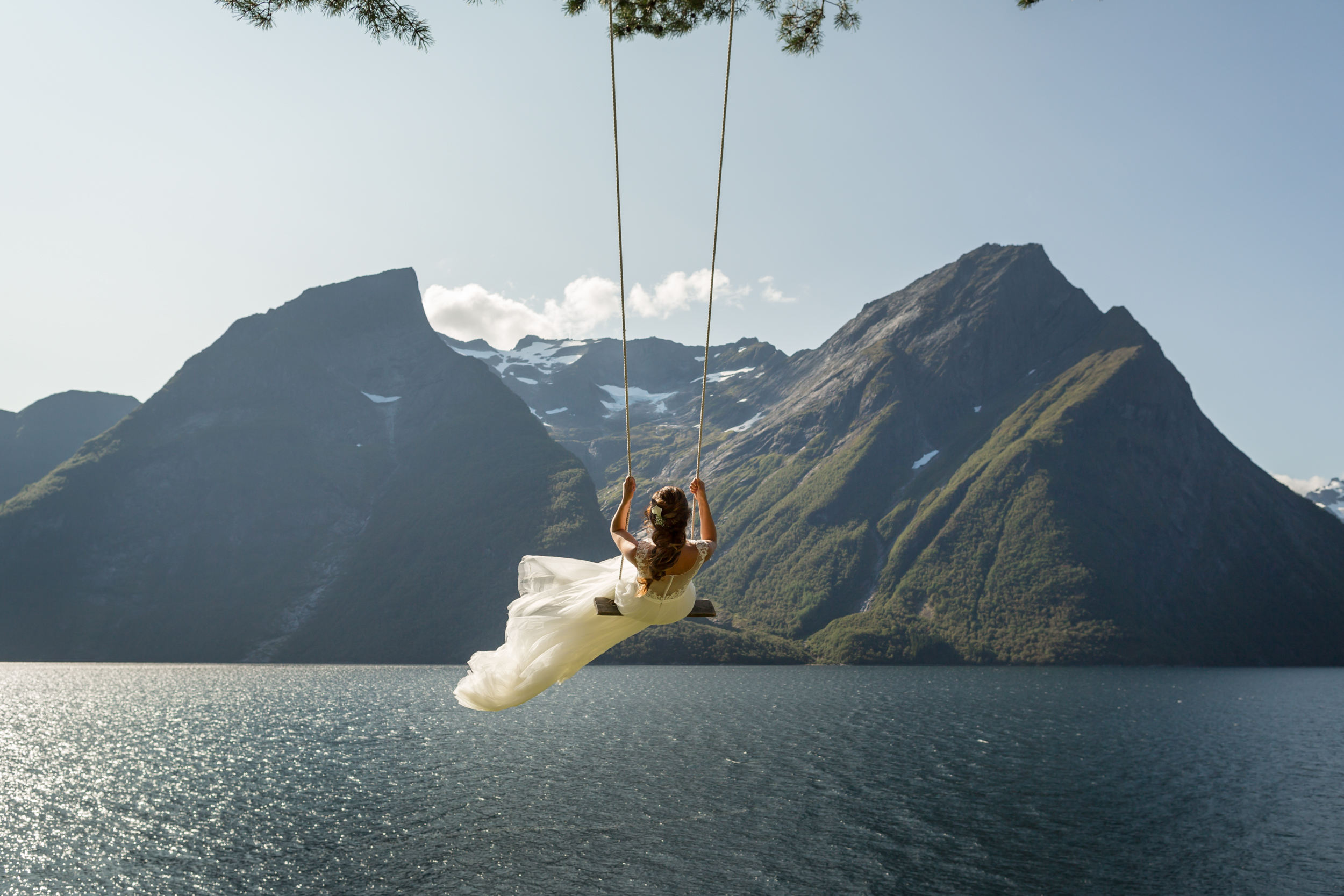 The famous swing at Trandal, Norway - Promise Mountain Photography