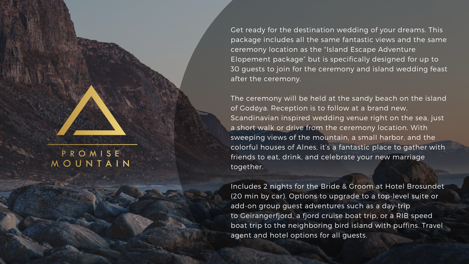 Large Elopement Collections — Promise Mountain Weddings