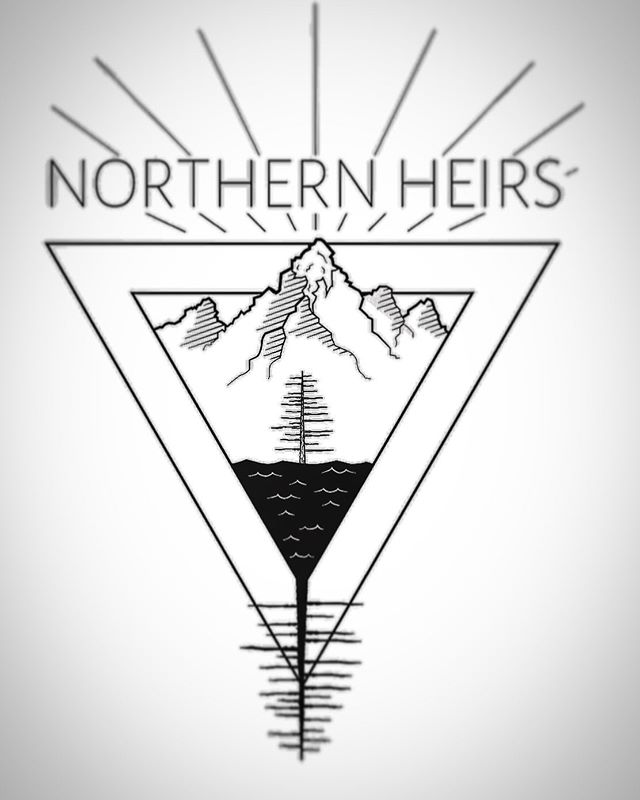 Looking at some of our branding. We are excited to get some of these beautiful pieces onto gear for y'all. What do you think about this piece? #northernheirs #canadiana #branding
