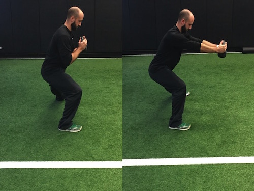 Adding the pulse on the right allows you to load up your front hip better which will allow you to be stronger with your hamstrings and glutes when pushing out of the lunge.
