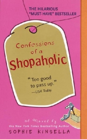 The cover of Sophie Kinsella's novel Confessions of a Shopaholic.
