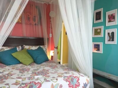 Cozy boho accommodations at Love.Soul.Beautiful Guest House in Luquillo, Puerto Rico.
