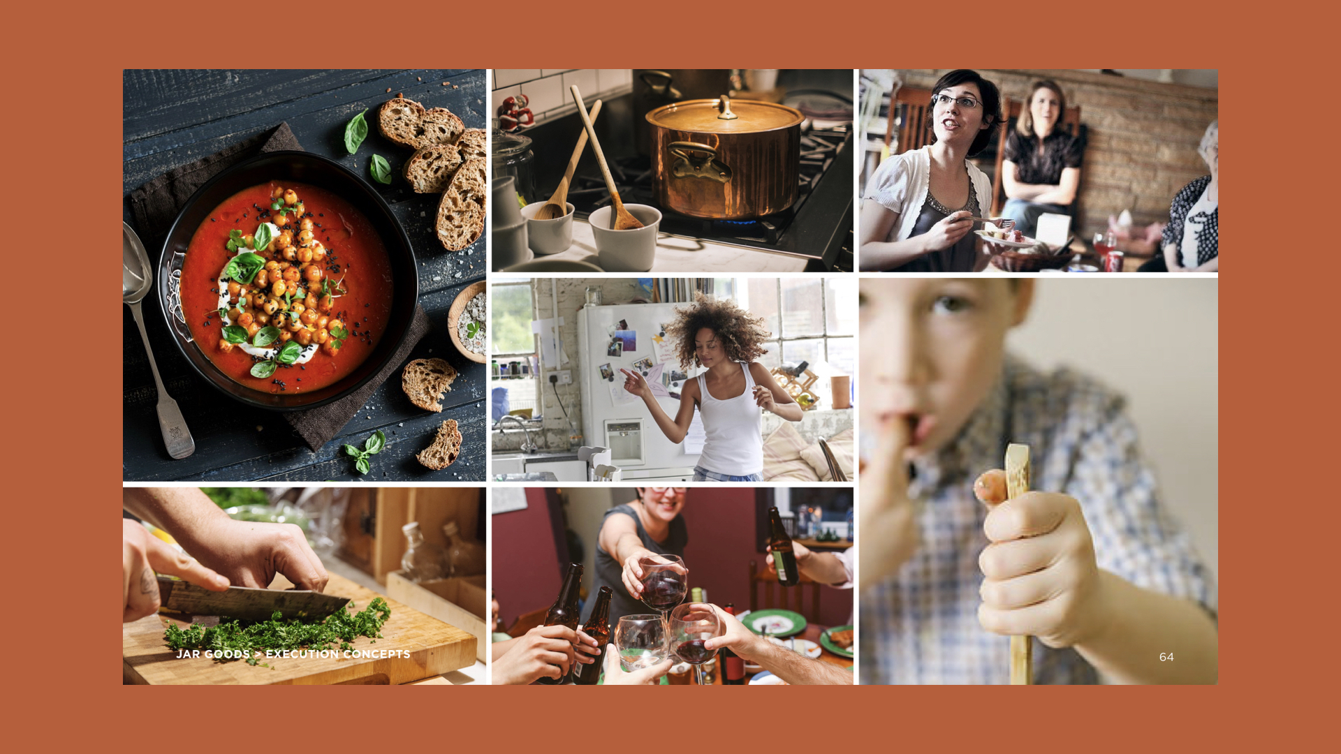 """Brand Strategy is built around those, who believe:""""Cooking is magical. I transform ingredients into meals, and food into love."""""""