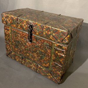 18c Tibetan Painted Box