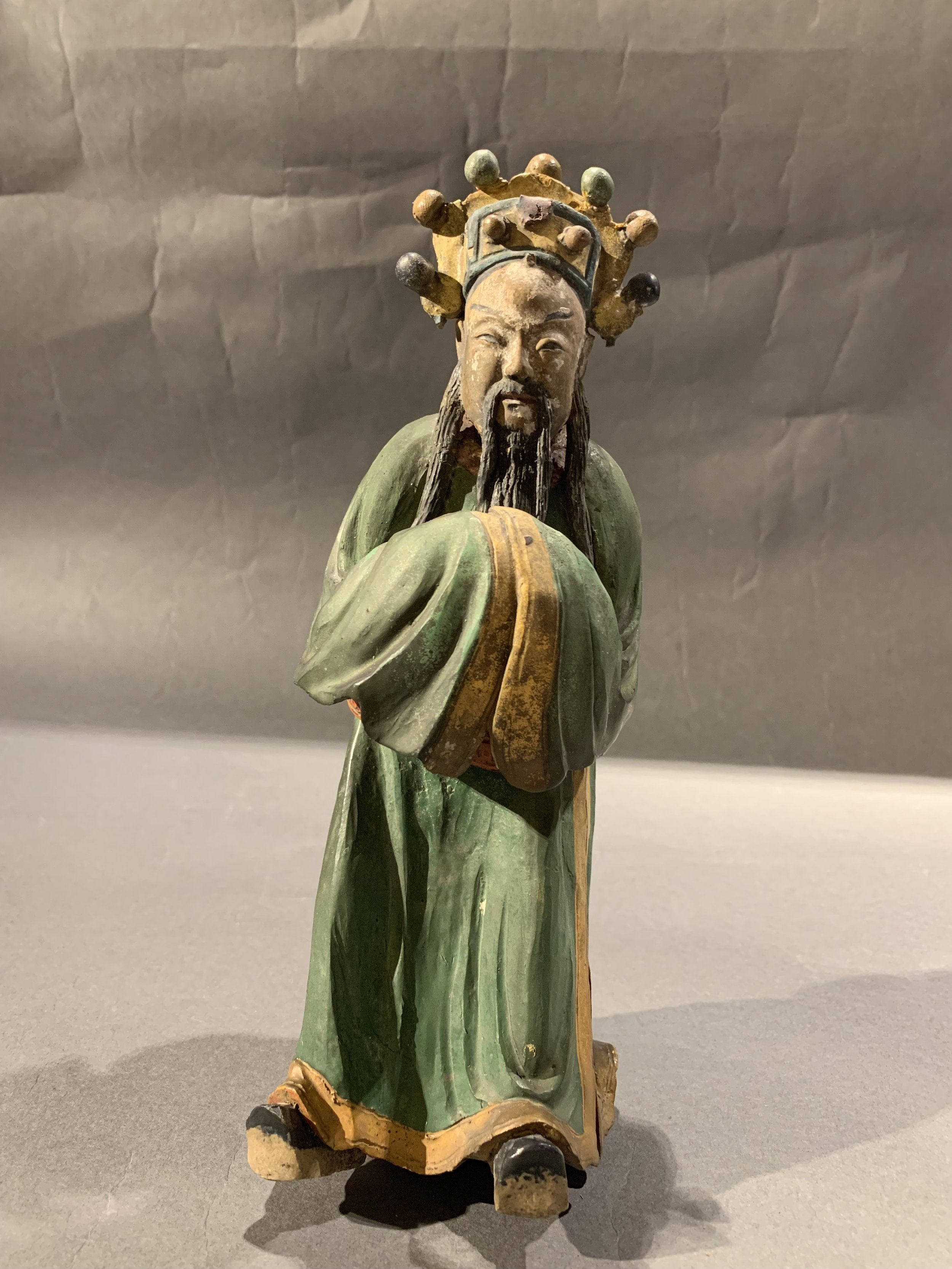 Chinese Ming Dynasty Roof Tile Figure
