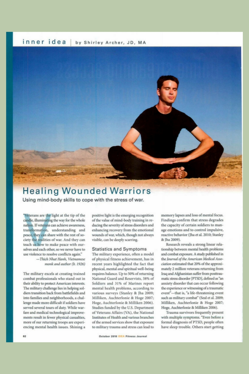 Healing Wounded Warriors Article by Shirley Archer