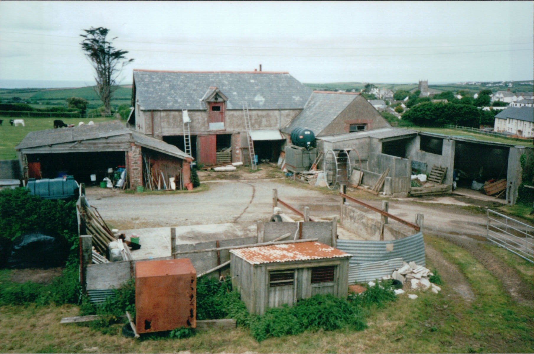 The courtyard before the 2001 conversion started