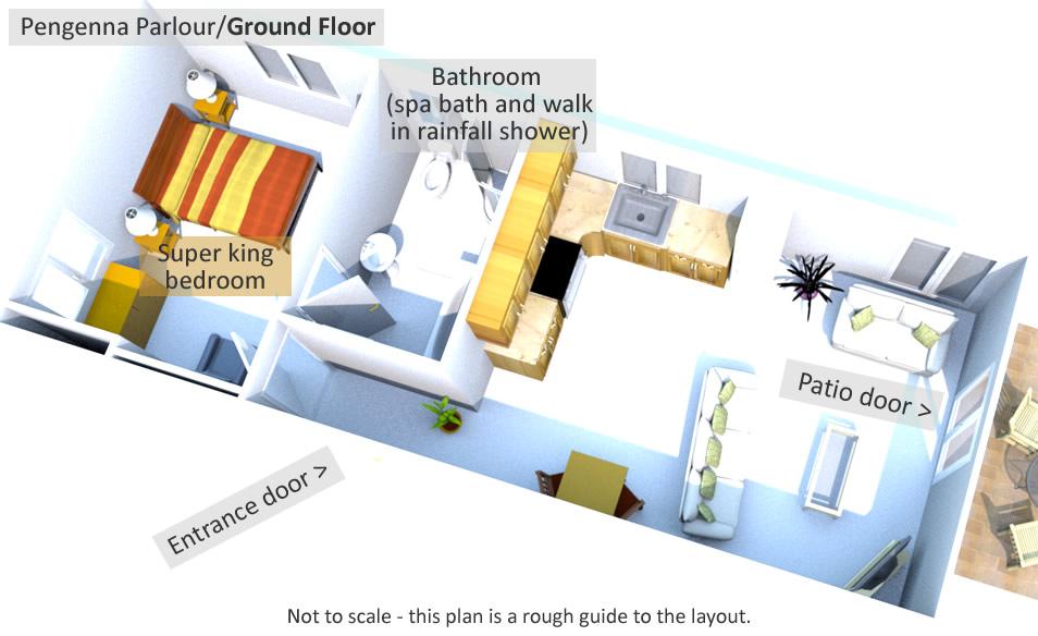 Pengenna Parlour - Ground Floor Plan